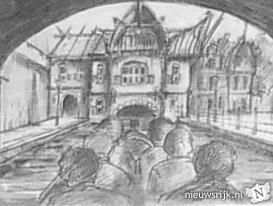 Concept-tekening van het station